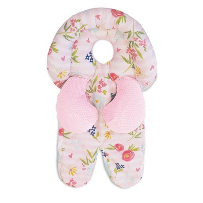 Boppy Head and Neck Support - Pink Stripe Flowers