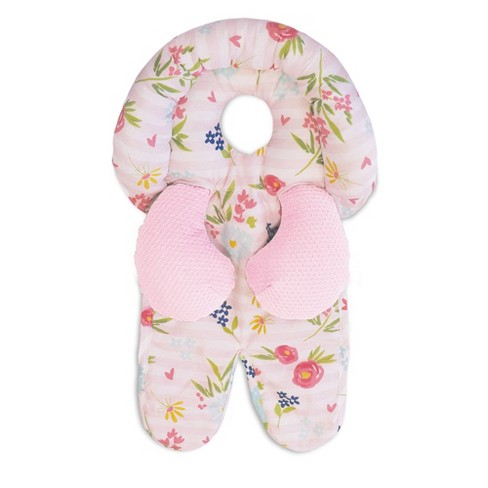 Boppy Head and Neck Support - Pink Stripe Flowers - image 1 of 4