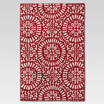 46 x30  Red Medallion Kitchen Rug - Threshold™