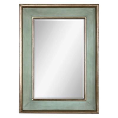 Rectangle Ogden Antique Decorative Wall Mirror Light Blue - Uttermost
