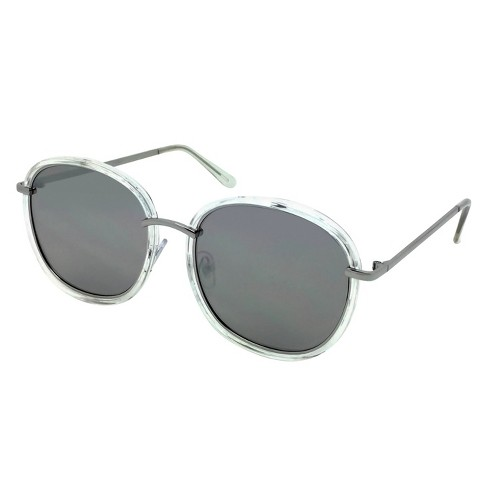 507aa3a32d5 Women s Oversized Sunglasses - Clear Silver   Target