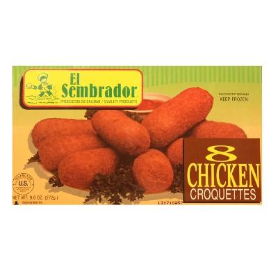 El Sembrador Chicken Frozen Croquettes - 9.6oz/ 8ct