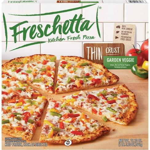 Freschetta Thin Crust Garden Veggie Frozen Pizza - 19.1oz - image 1 of 4