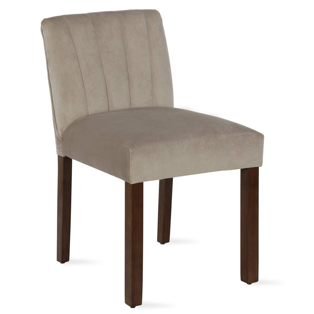 Image of 2pk Silas Channel Back Parsons Chair Beige - Dorel Living