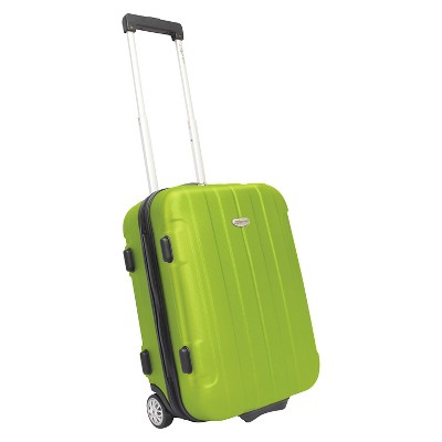"Traveler's Choice Rome 21"" Hardside Carry On Suitcase - Green"