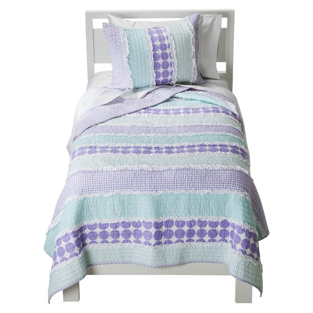 Image of Maddie Quilt Set - Sheringham Road, Purple Blue