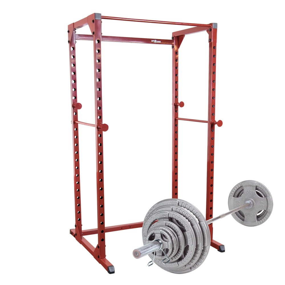 Best Fitness Power Rack with 300LB Olympic Grip Weight Set - (BFPR100WS)