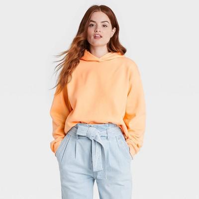 Women's Hooded Sweatshirt - A New Day™ Orange M
