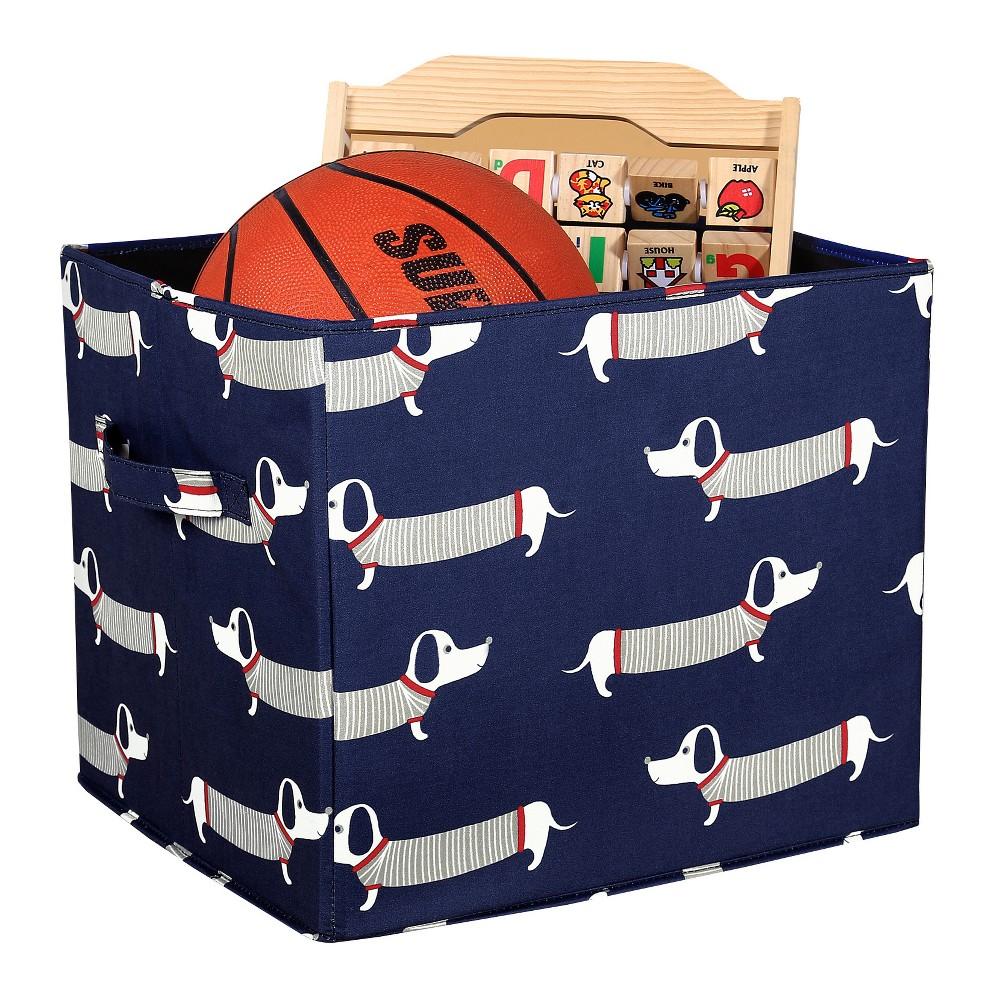 Navy (Blue) Sausage Toy Storage Dog Collapsible Box (14