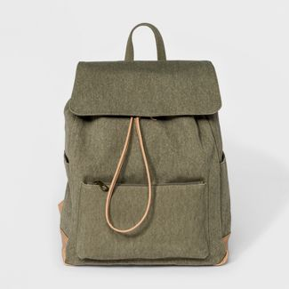 Large Flap Olive Canvas Backpack - Universal Thread™ Olive