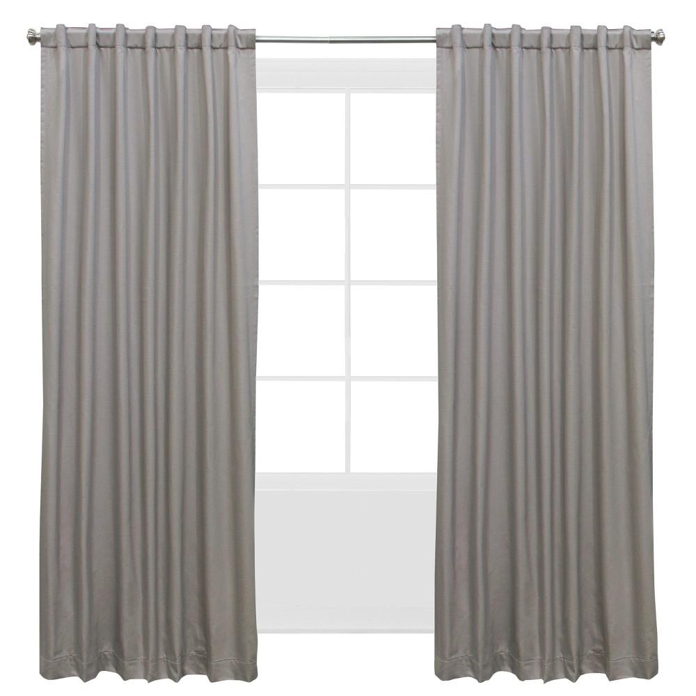Shantung Window Curtain Panels Gray (50