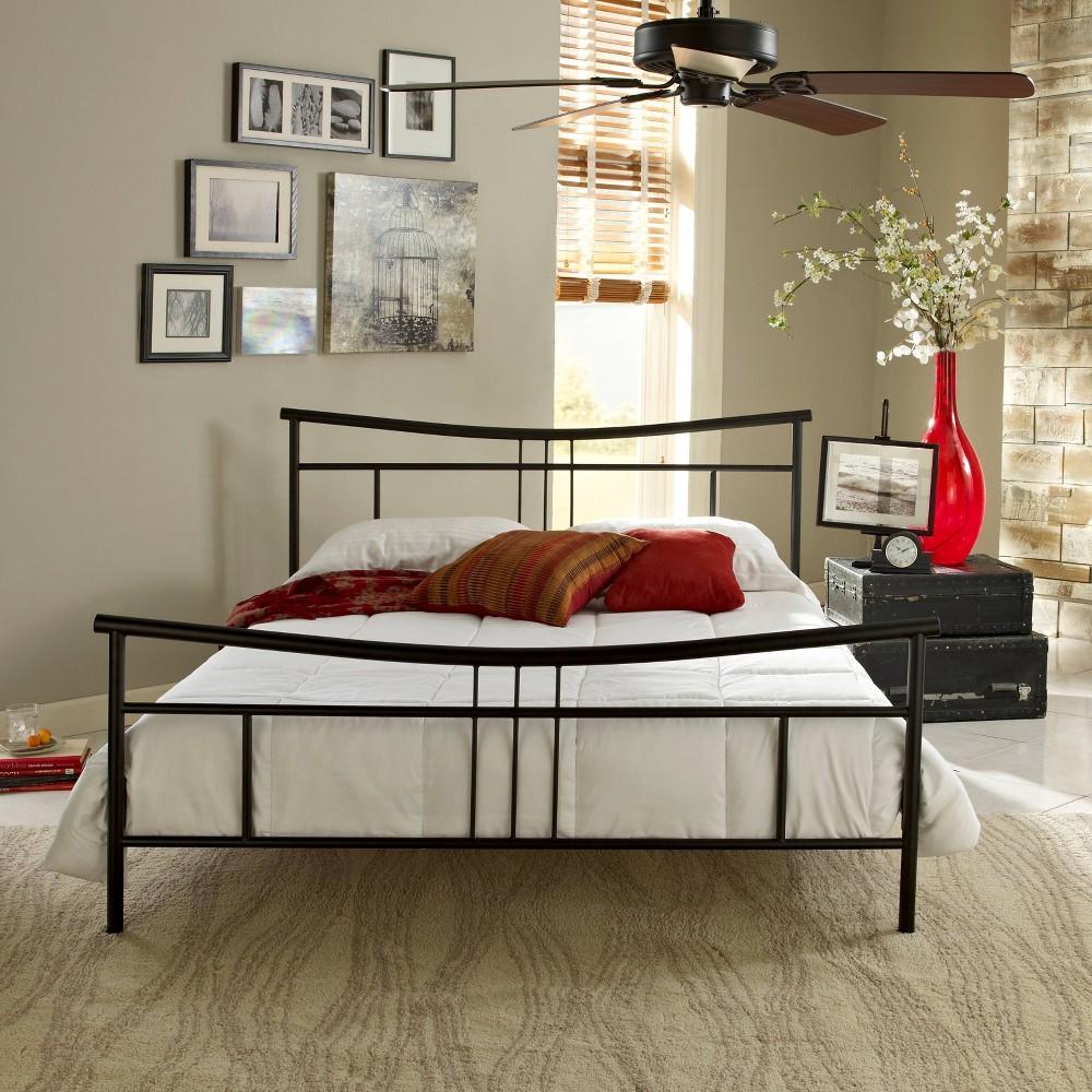 Image of Bayport Metal Platform Bed Frame Black (Full ) - Eco Dream