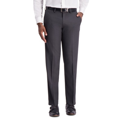 Haggar H26 Men's Big & Tall Straight Fit 4 Way Stretch Trousers - Heather Gray - image 1 of 2