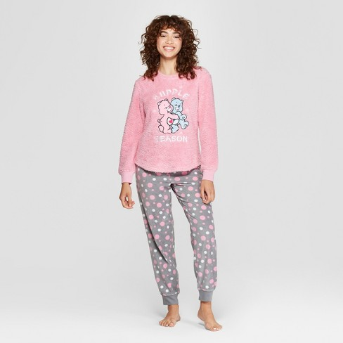 3e7689fc4a Women s Care Bear Holiday Cozy Pajama Set - Pink   Target