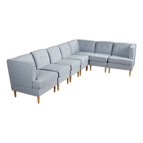 7pc Milton Sectional Sofa Set Christopher Knight Home