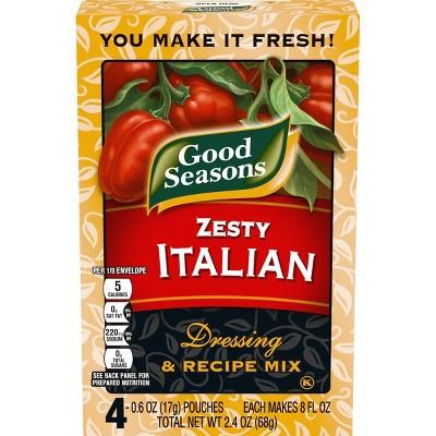 Good Seasons Zesty Italian Dressing & Recipe Mix 4ct
