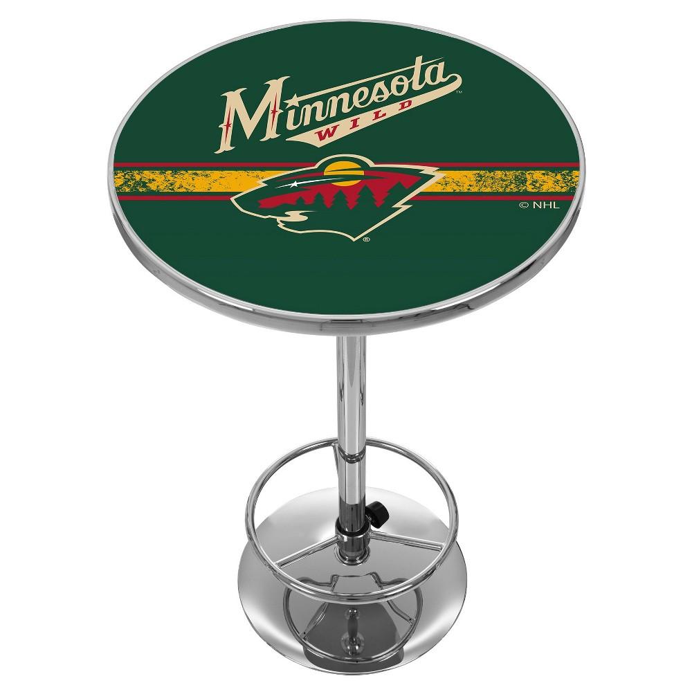 NHL Minnesota Wild Chrome Pub Table