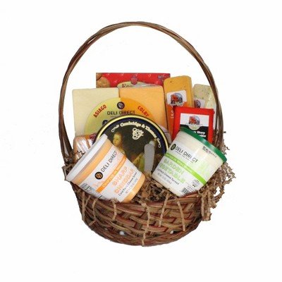 Northlight 10pc Wisconsin Cheese Party Gift Pack with Basket