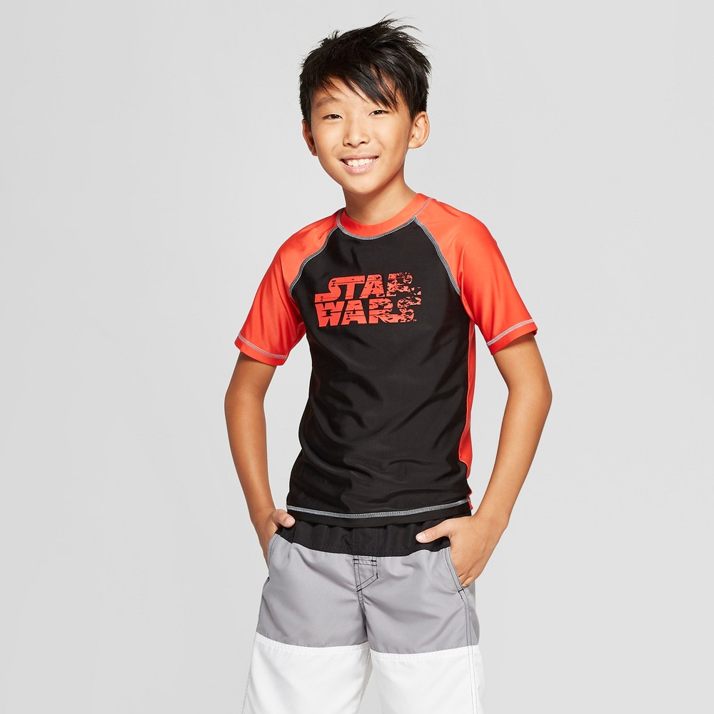Boys' Star Wars Rash Guard - Black/Orange M