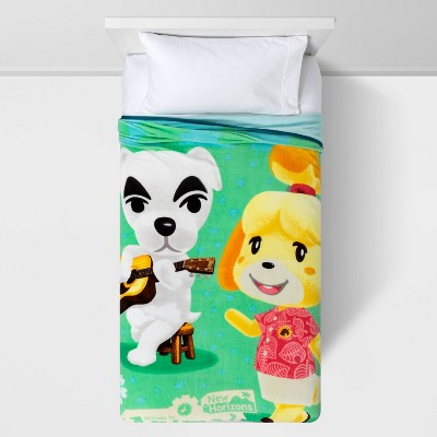 "62""x90"" Animal Crossing Hello Camper Blanket"