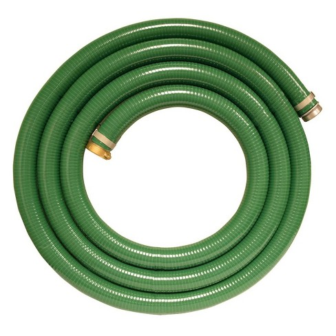 Apache 98128035 2 Inch Diameter 15 Foot 60 Psi Flexible Pvc Water Fuel Chemical Suction Discharge Hose With Aluminum Quick Connection Fittings Green Target