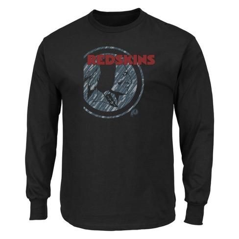 NFL Washington Redskins Men s Point of Attack Black Long Sleeve T-Shirt e539fde3e