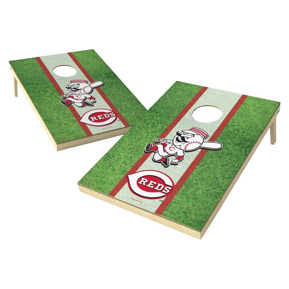 Cincinnati Reds Wild Sports Field Shield Cornhole Bag Toss Set - 2x3 ft.