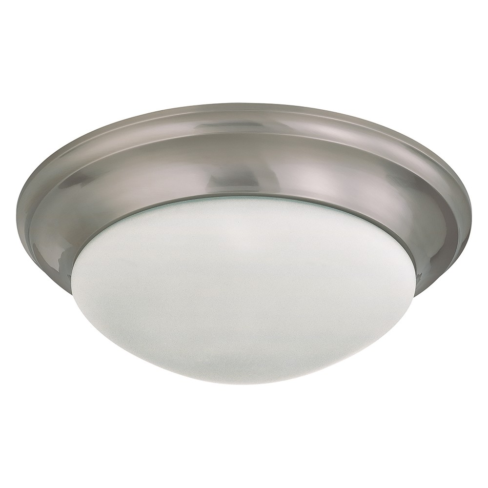 Aurora Lighting 3 Light Brushed Flush Mount Ceiling Lights Nickel