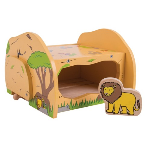 Bigjigs Rail Safari Lions Den Wooden Railway Train Set Accessory - image 1 of 3