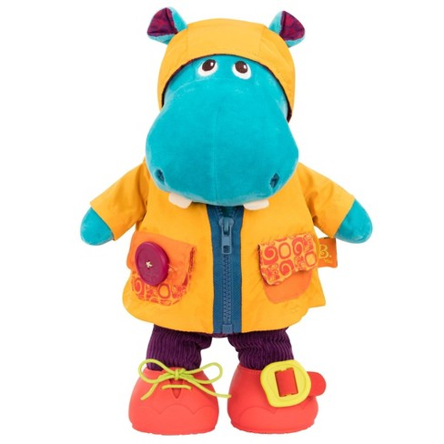B. toys Interactive Plush Hippo Giggly Zippies - Hank - image 1 of 4