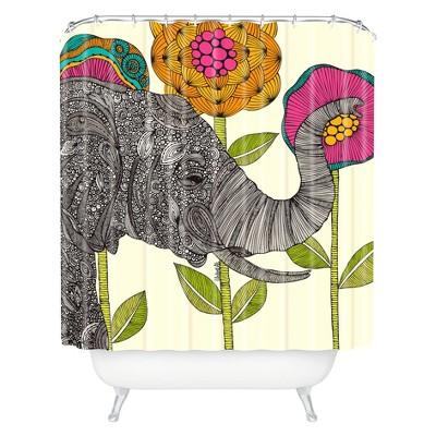Aaron Elephant Shower Curtain Dark Heather - Deny Designs