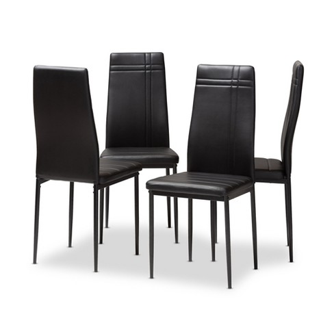 Matiese Modern and Contemporary Faux Leather Upholstered Dining Chairs Set of 4 - Baxton Studio - image 1 of 4