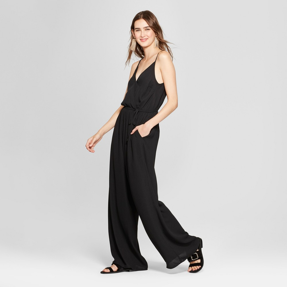 Women's Strappy Wrap Jumpsuit - Xhilaration Black XS