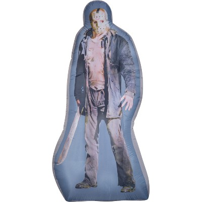 Gemmy Photorealistic Airblown Jason Voorhees S LG WB, 6 ft Tall, grey