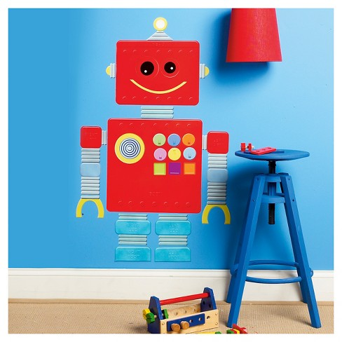 Robot Wallplay Peel & Stick Wall Decal 2 Sheets - Wallies® - image 1 of 1