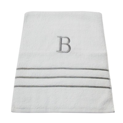 Monogram Hand Towel B - White/Skyline Gray - Fieldcrest®