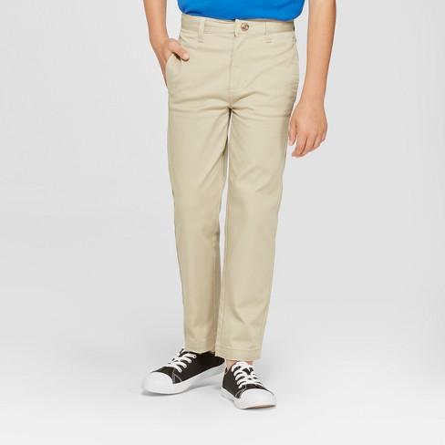 9b62c1e53ae965 Boys' Flat Front Straight Fit Stretch Uniform Chino Pants - Cat & Jack™ :  Target