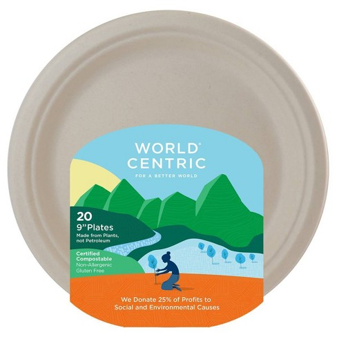 """World Centric 9"""" Disposable Plates - 20ct - image 1 of 1"""