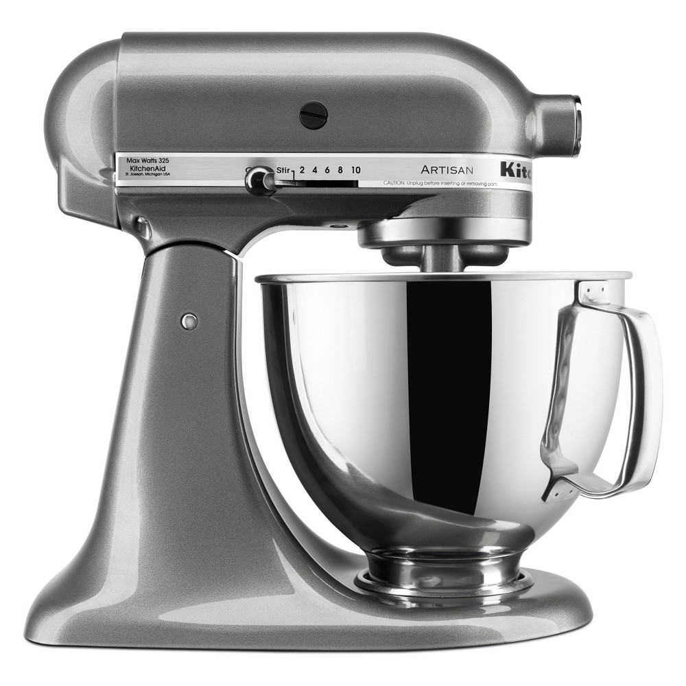 KitchenAid Refurbished 5qt Artisan Stand Mixer Medallion Silver - RRK150MS