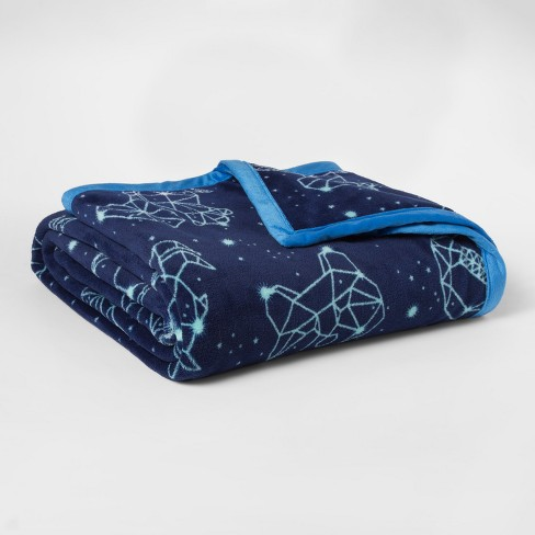 Constellations Plush Blanket (Full/Queen) - Pillowfort™ - image 1 of 1