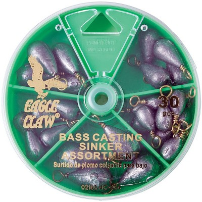 Eagle Claw Bass Casting Sinkers Dial Pack