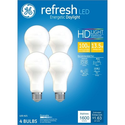 General Electric 4pk Refresh 100w Aline LED Light Bulbs