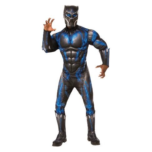 Mens Black Panther Halloween Gloves