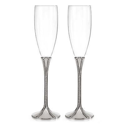 6oz Zippered Elegance Flute Drinkware Clear - Hortense B. Hewitt