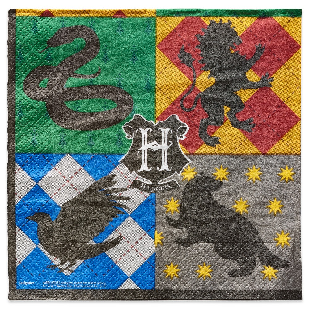 Image of 16ct Harry Potter Lunch Napkins, Multi-Colored