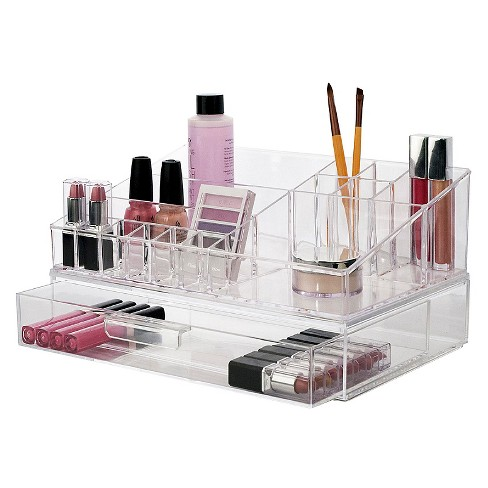 us acrylic cosmetic organizer with stackable drawer target