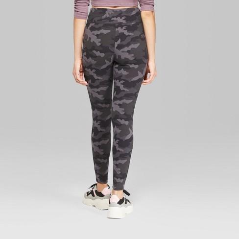 8627f1d0827a7 Women's Camo Print High-Waist Leggings - Wild Fable™ Black/Gray. Shop all Wild  Fable