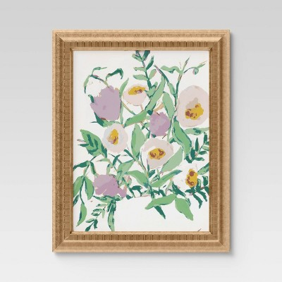 "16"" x 20"" Oh Floral I Framed Under Glass - Opalhouse™"