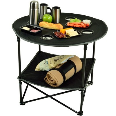 Picnic at Ascot Travel Folding Canvas Table for Picnics and Tailgating