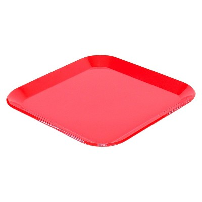 Red Square Dinner Plate 10.5 x10.5  - Room Essentials™